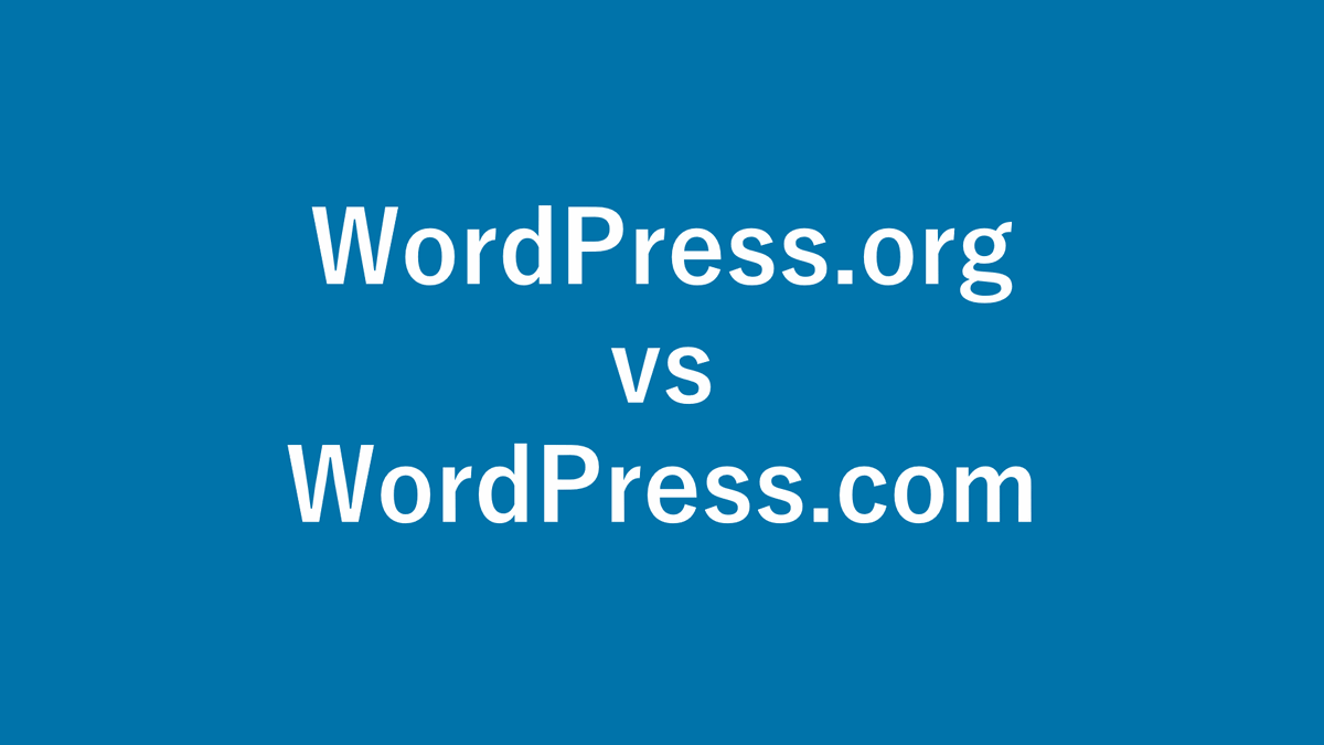 WordPress.org vs WordPress.com ( What is the difference )