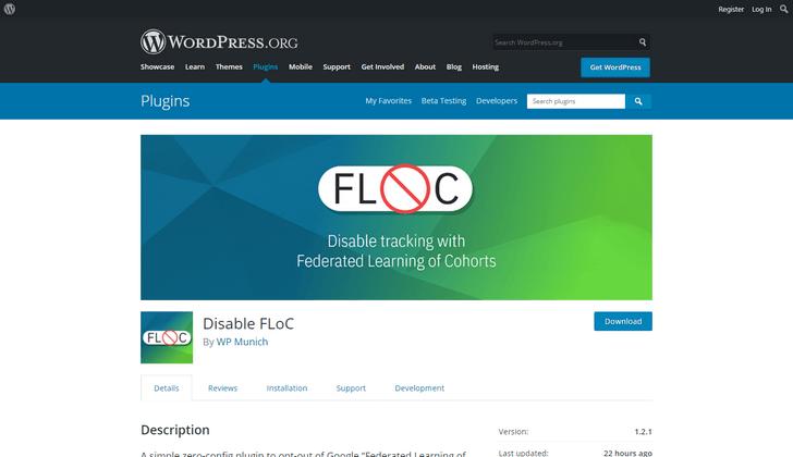 Disable FLoC